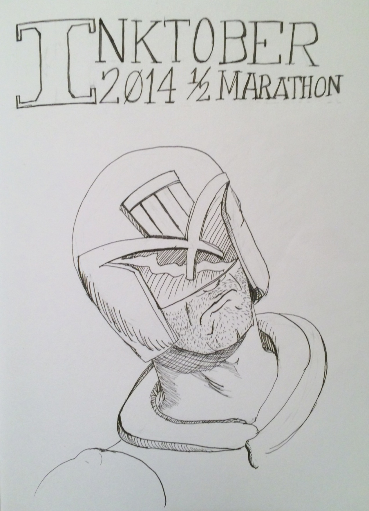 Inktober day 1 and Dredd